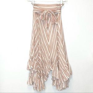 Free People Maxi Skirt Layered Look Neutrals XS